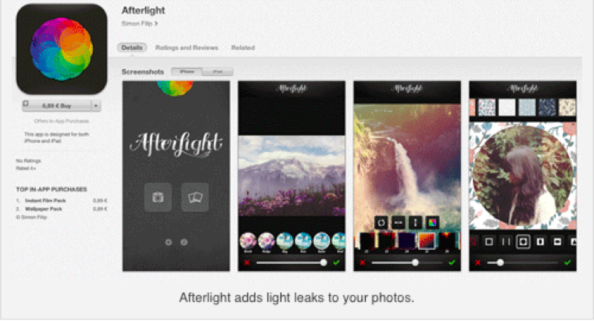 afterlight 5 Useful Instagram Picture Apps