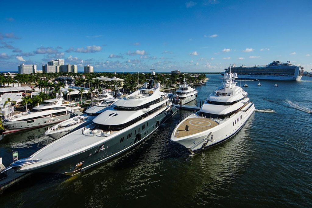 Madsummer and Pheonix 2 At the Superyacht Village in FLIBS 2019